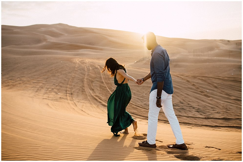 Dubai desert couple photoshoot