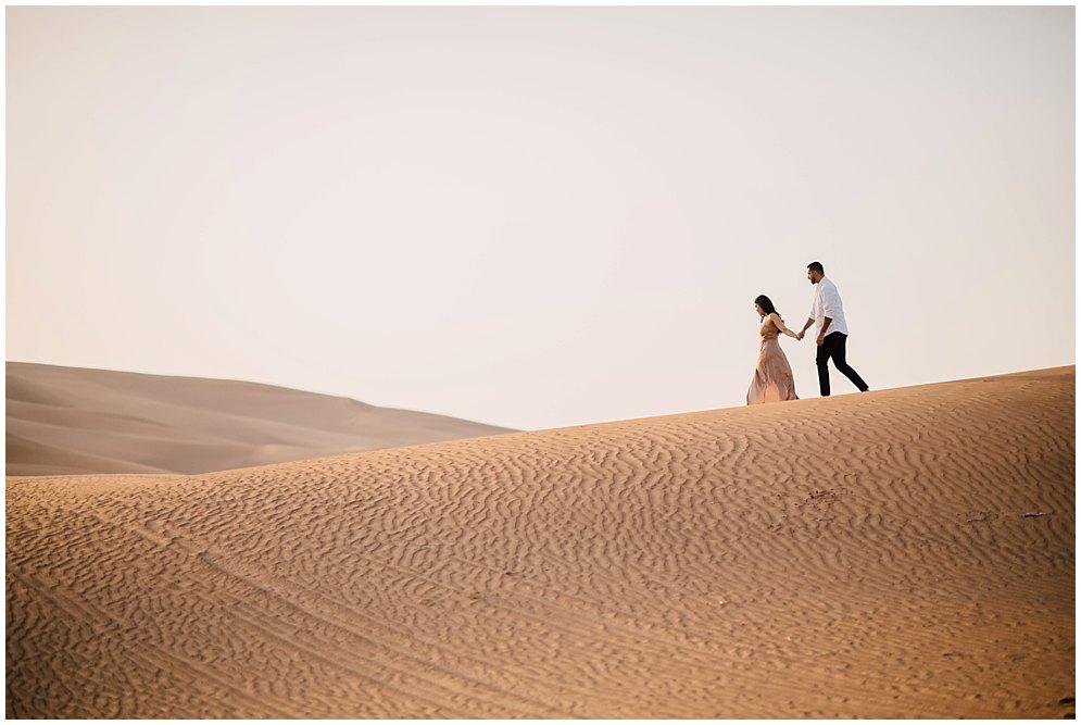 sunrise engagement dubai desert