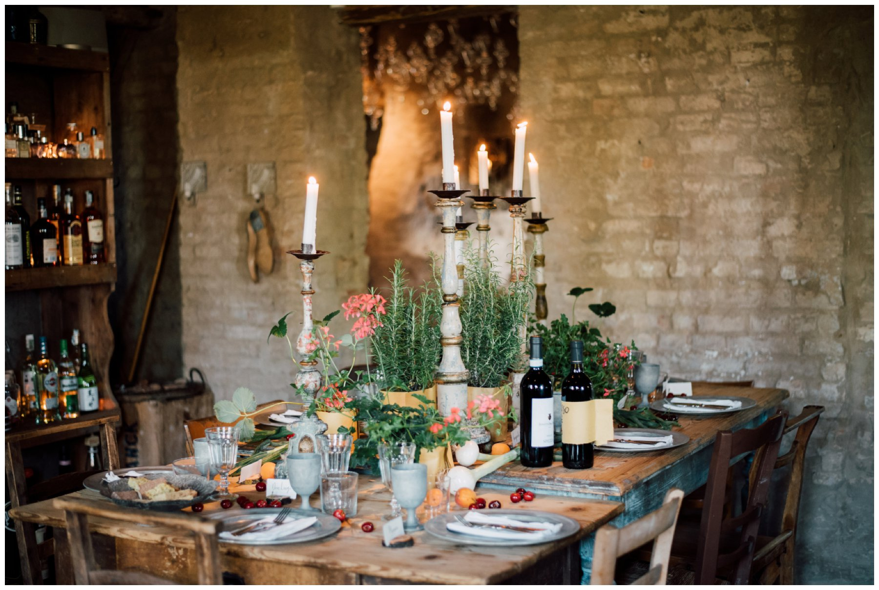 rustic chic table wedding dubai